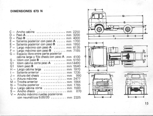 manual de  camion fiat 673 n-t   año`1974-original .unico!
