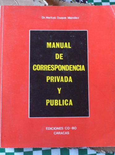 manual de correspondencia privada y pública n duque cpx030