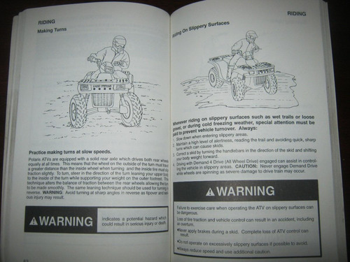manual de cuatriciclo polaris 2000 universal atv