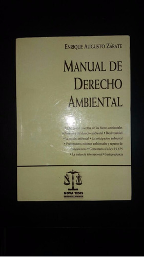 manual de derecho ambiental  ( zárate)