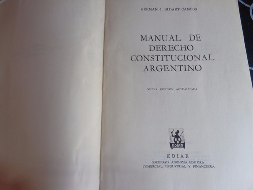 manual de derecho constitucional argentino