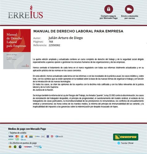 manual de derecho laboral para empresa - erreius