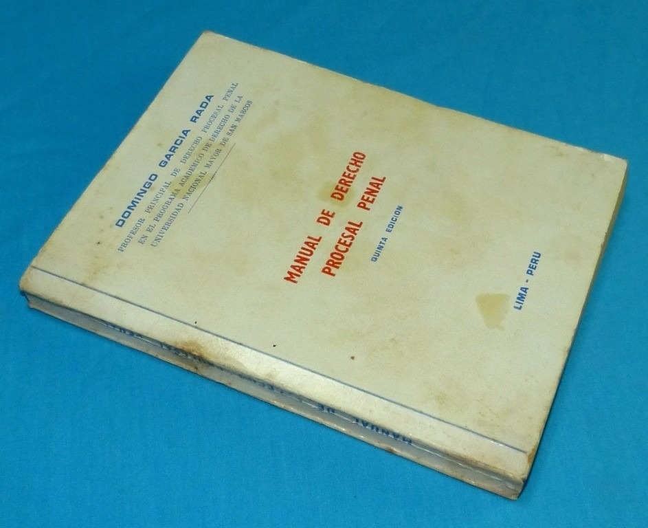 manual de derecho procesal penal domingo garcía rada 1976