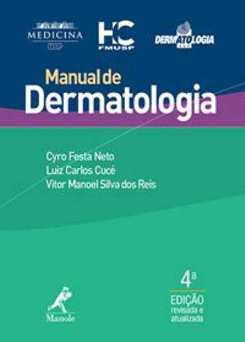 manual de dermatologia - 4ª edição - manole