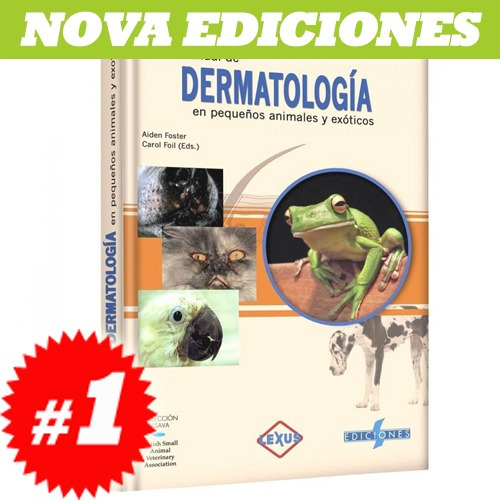 manual de dermatología en pequeños animales nuevo y original