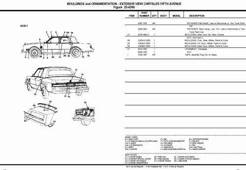 manual de despiece chrysler new yorker 1982-1989 español