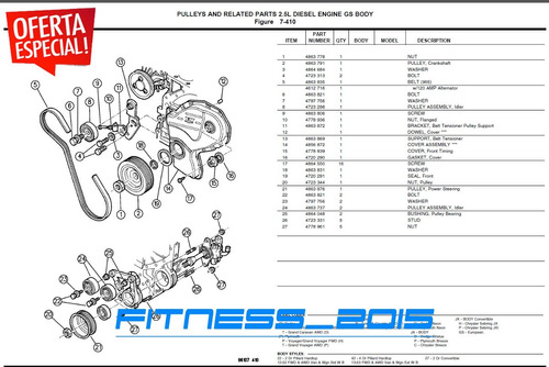 manual de despiece dodge gtx2000 89 90 91 92 - 94 catalogo