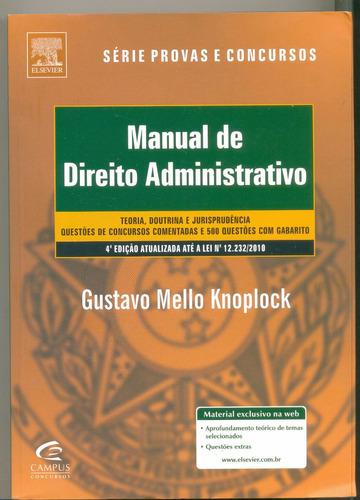 manual de direito administrativo-gustavo mello -frete gratis