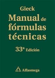 manual de formulas tecnicas - gieck - alfaomega