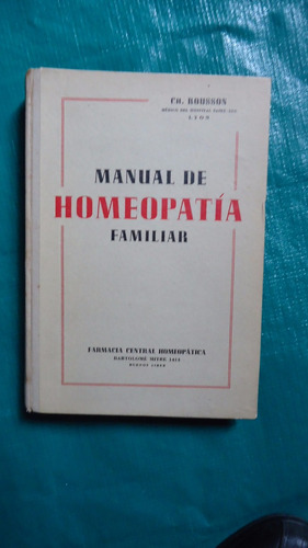 manual de homeopatía familiar