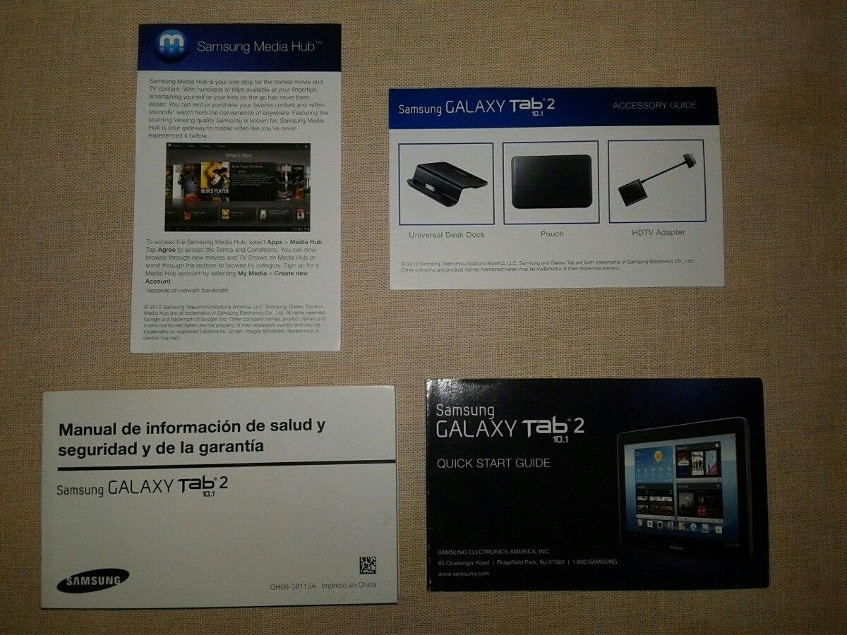 Manual De Informacion Guia Rapida Samsung Galaxy Tab 2 10 1