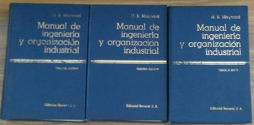 manual de ingeniería y organización industrial - maynard