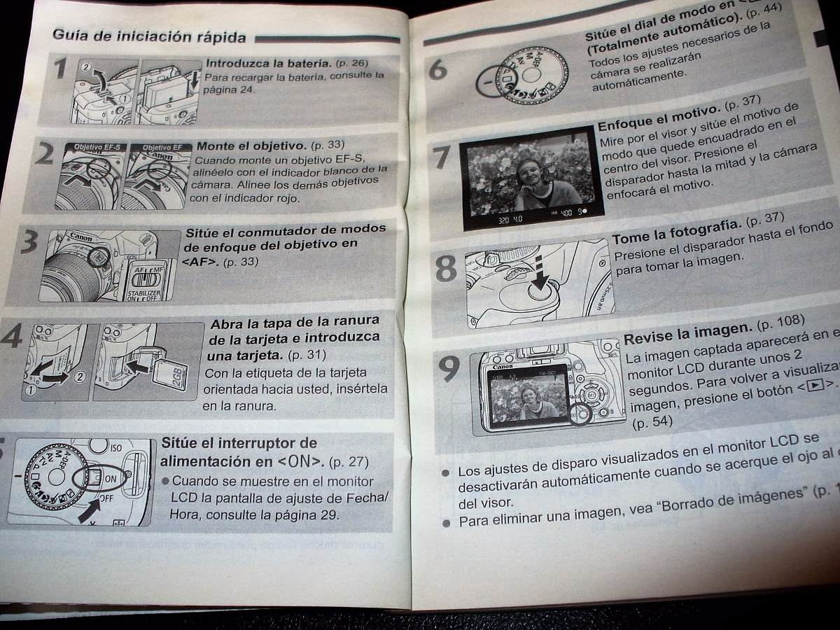 Manual De Instrução Canon Eos 450d , Rebel Xsi