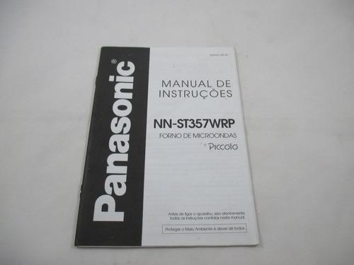 manual de instruções microondas panasonic nn-st357wrp
