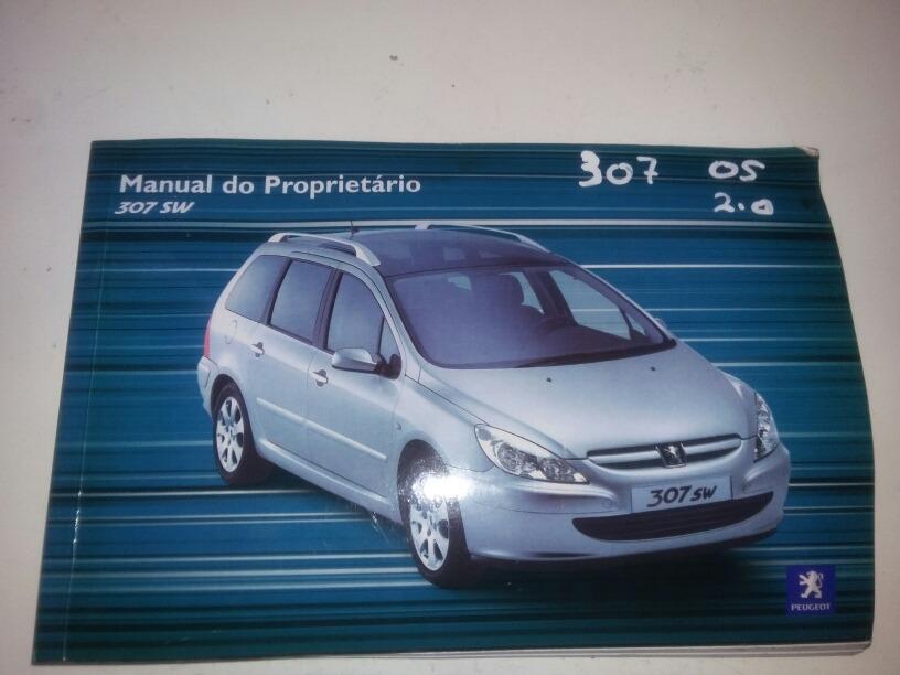 manual de instru es propriet rio peugeot 307 sw original r 50 rh produto mercadolivre com br Peugeot 307 SW HDI Peugeot 307 SW HDI