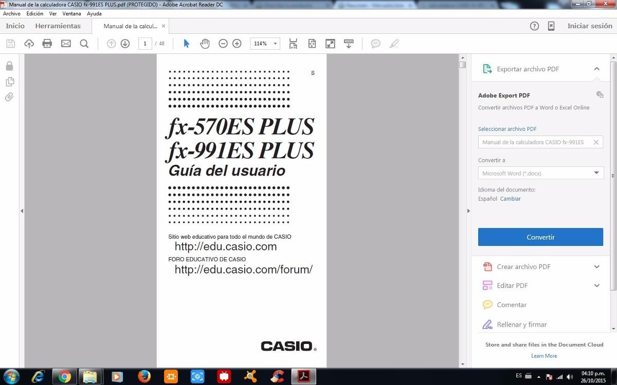 Fx 991es Plus Manual