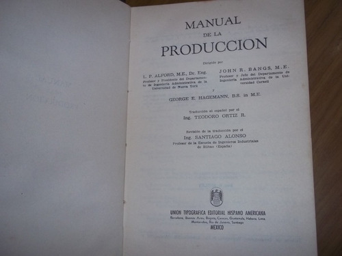 manual de la produccion - l. alford - john bangs - hagemann