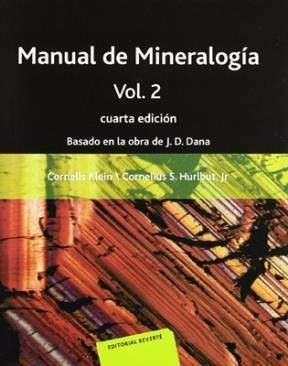 manual de mineralogía vol 2 - h y k cornelius - reverte