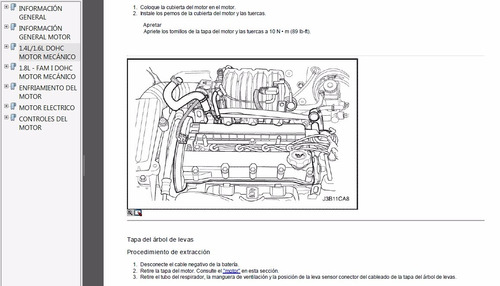 manual de motor chevrolet optra (desing, limited) / aveo