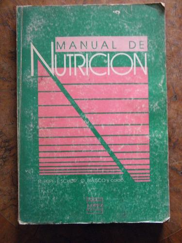 manual de nutrición - pupi - schor - brusco 1988