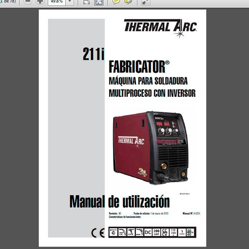 manual de operaciones en español de la thermal arc 211i