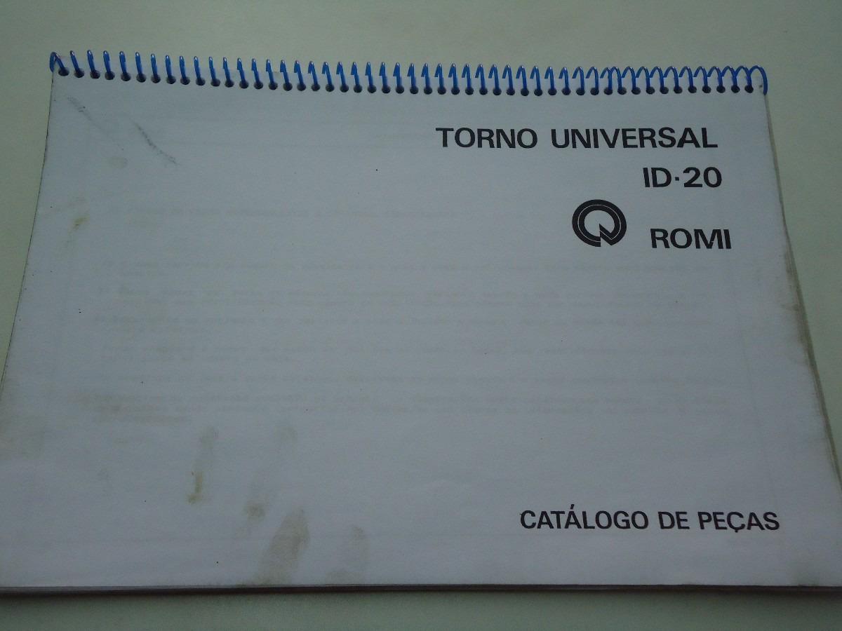manual de pe as do torno romi id20 r 120 00 em mercado livre rh produto mercadolivre com br Torno Simple Torno En Ingles
