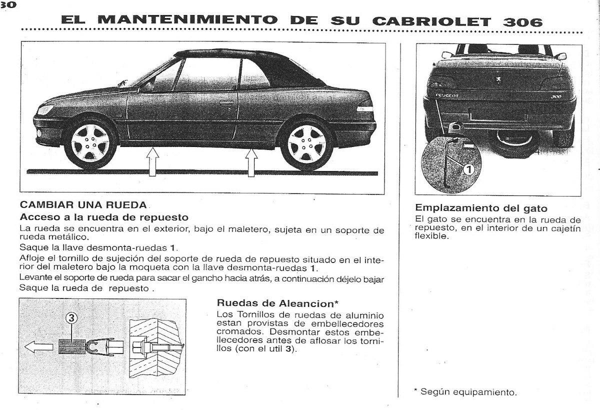 306 manual de cabriolet