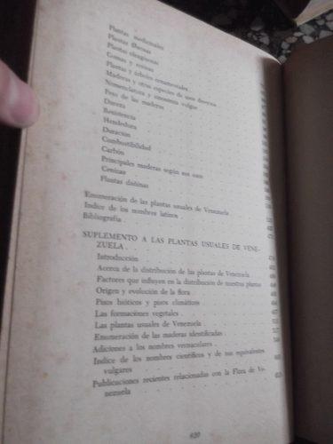 manual de platas usuales de vzla henri pittier tapa dura ilu