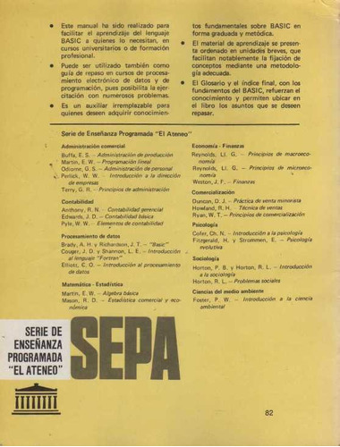 manual de programación basic, año 1984
