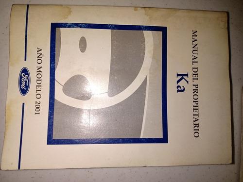 manual de propietario ford ka 2001