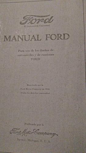 manual de propietario ford  t