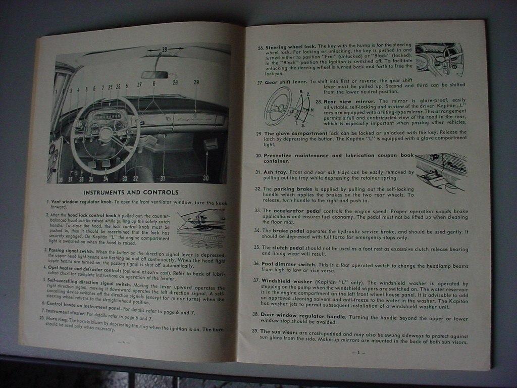 manual de proprietario opel kapitan 58 1958 genuino de epoca r rh produto mercadolivre com br 1946 Opel Kapitan 1948 Opel Kapitan