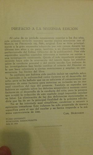 manual de psicologìa del niño. f.seix editor. 1955.