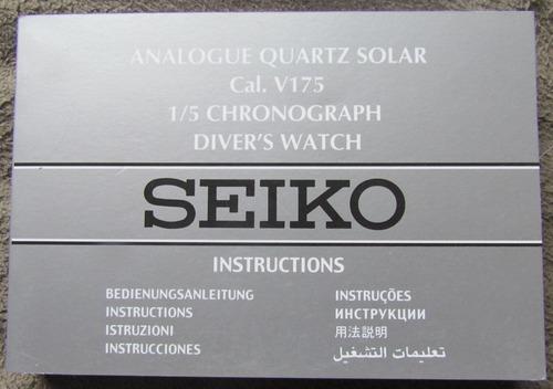 manual de reloj seiko solar cronografo