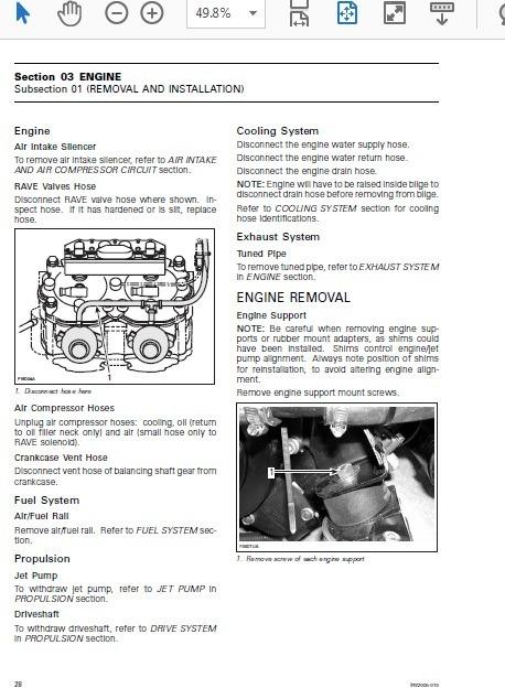 Manual De Reparación 2005 Sea Doo Challenger 180 Brp Rotax