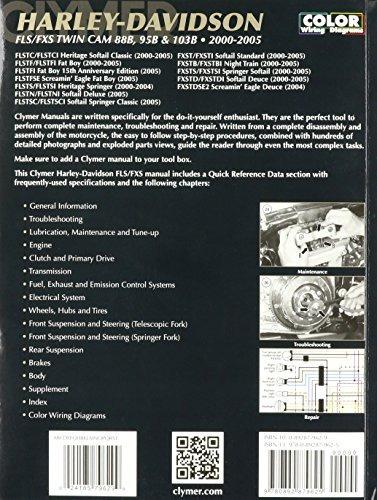 manual de reparación de clymer para harley softail twin cam