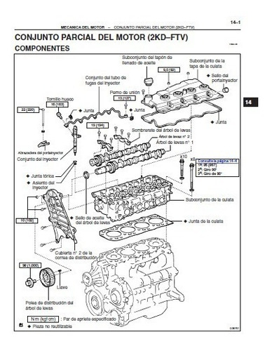 manual de reparaciones para motor toyota 2kd-ftv hilux  2005
