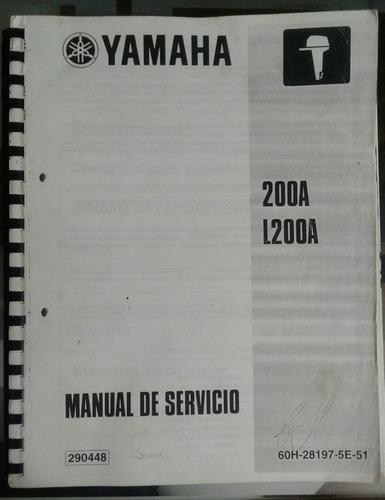 manual de servicio motor fuera de borda yamaha 200a-l200