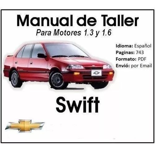 manual de servicio taller chevrolet swift en español