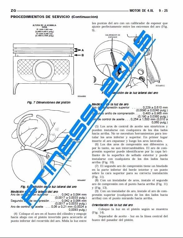Manual De Servicio Taller Jeep Grand Cherokee Xj 1997 - 2001 - U$S 5 ...