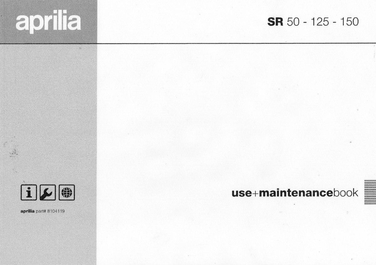 manual de serviço - aprilia sr 50/125/150 - 1999 pdf. Carregando zoom.