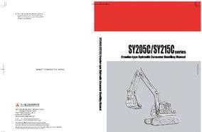 Manual De Serviço Escavadeira Sany Sy205c