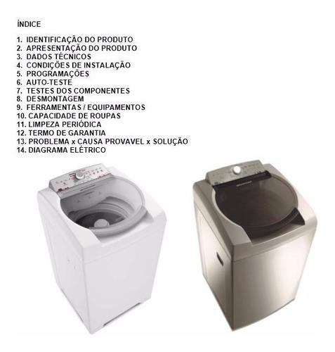 manual de serviço lavadora brastemp ative bwl11ab bwl11ar