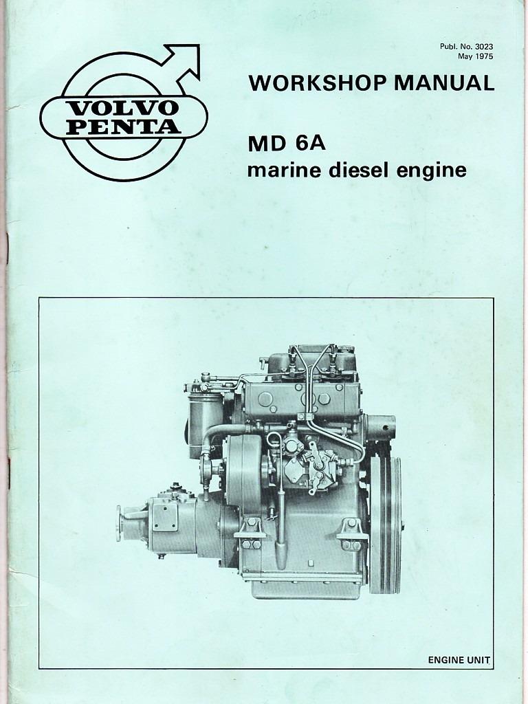 manual de serviço motor maritimo volvo penta md6a md7a 1975. Carregando  zoom.