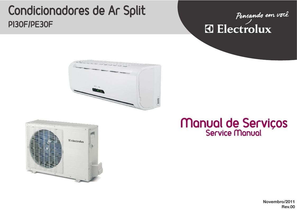 manual de serviço split electrolux pi30f pe30f. Carregando zoom.