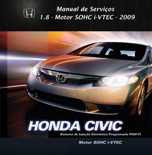 manual de serviços - honda civic 1.8 16v - 2009 - pdf