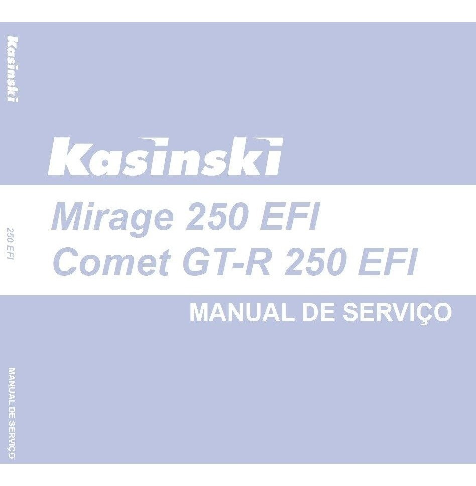 Manual De Serviços Kasinski Mirage / Comet Gt-r 250 - Pdf