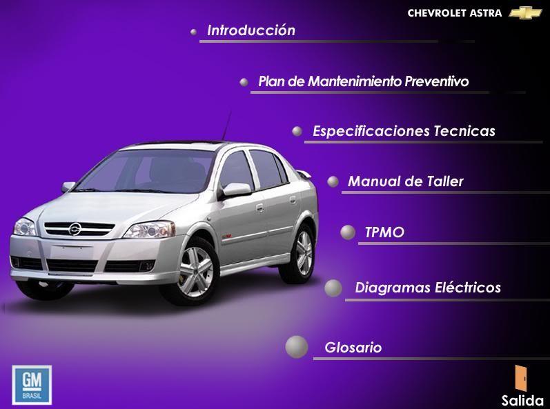 Manual De Taller Astra Oficial Gm Chevrolet 9500 En Mercado Libre