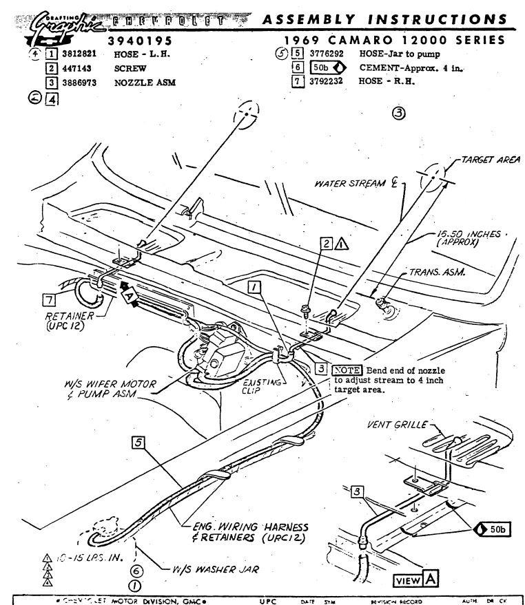 Camaro Wiring Harness Retainers