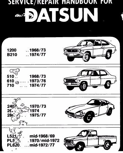 manual de taller datsun 260z (1974-1978) envio gratis